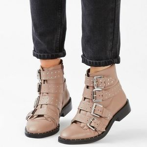 Topshop studded leather ankle boots